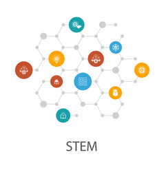 Stem presentation template cover layout and vector