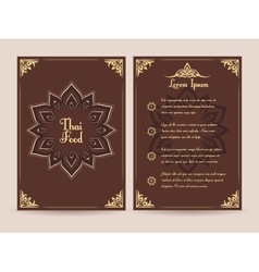 Thai food menu template vector image