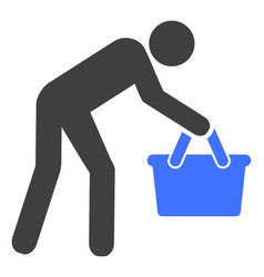 Tired buyer persona icon vector