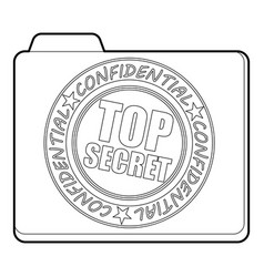 top secret icon outline style vector image vector image