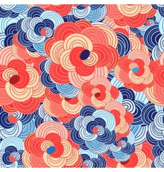 unusual floral pattern vector image