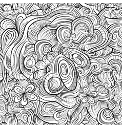 Vintage line art abstract nature ornamental vector