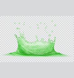 water crown with drops splash of water vector image