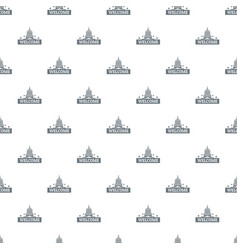 welcome to usa pattern seamless vector image
