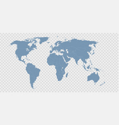 world map divided countries vector image
