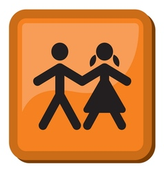 Boy and Girl icon vector image vector image