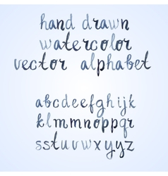 Colorful watercolor aquarelle font type vector image vector image