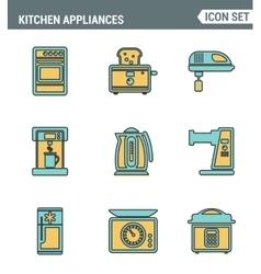 Icons line set premium quality of kitchen utensils vector image