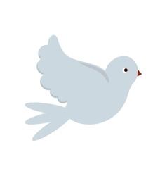 Isolated dove bird design vector image