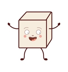 Isolated sugar cube design vector image