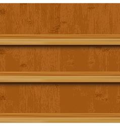 Wooden Book Shelf vector image