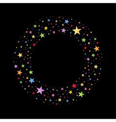 Wreath of Multicolored Stars vector image