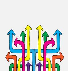 Arrow icon set design vector image