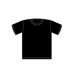 black t-shirt template isolated clothing on white vector image