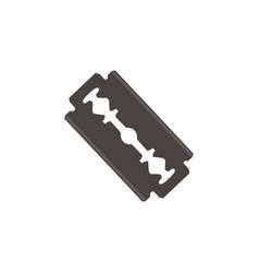 blade razor sharp metal steel icon blade care vector image