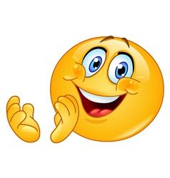 clapping emoticon vector image vector image