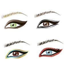 Eyes design art vector image