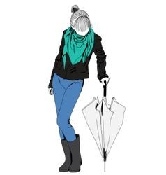 fashion lady vector image vector image