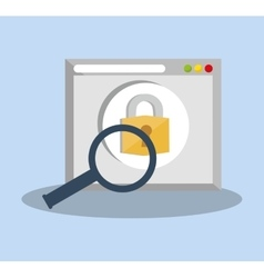 internet security web page padlock search vector image