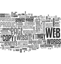 is your website s copy up to the mark text vector image vector image