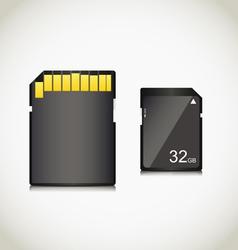 Memory card vector image vector image