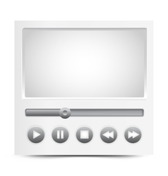 simple video player interface vector image
