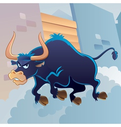 angry bull vector image vector image