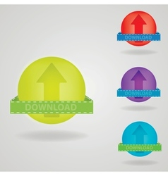 Download button web design element vector image