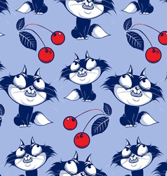 funny catroon cat smile background vector image