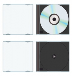 Music cd case vector