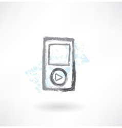 music player grunge icon vector image vector image
