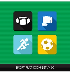 Sports flat icons set vector image