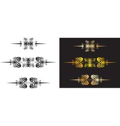 vintage dividing lines vector image
