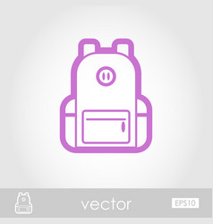 Backpack outline icon travel summer vacation vector