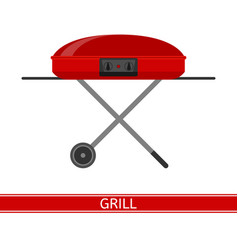 barbeque grill icon vector image vector image