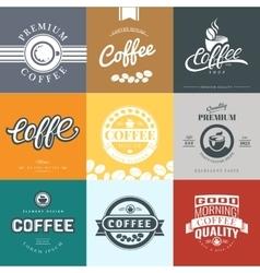 Coffee vintage logo vector