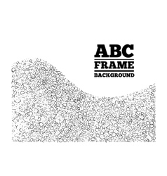 Frame created from the letters of different sizes vector image
