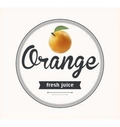 Orange juice natural product vector image