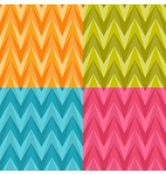 Set of Four Seamless Color Abstract Retro vector image