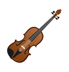 violin music instrument realistic icon vector image