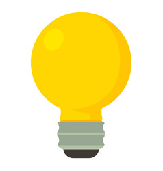 yellow light bulbicon cartoon style vector image