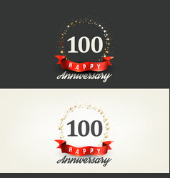 100 years happy anniversary banners vector