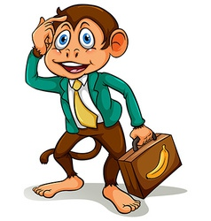 A monkey doing business vector