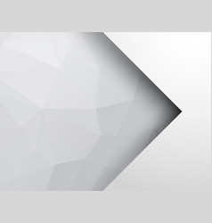 abstract silver geometric background with arrow vector image