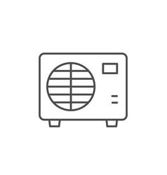 Air conditioner external block line icon vector
