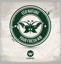 alternative eco nature stamp vector image