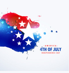 American holiday 4th july background vector