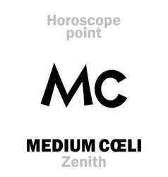 Astrology medium coeli zenith vector