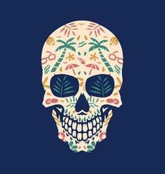 beach skull vector image