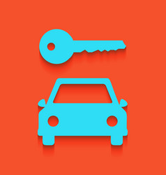 Car key simplistic sign whitish icon on vector